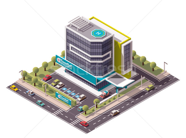 Vector isometric hospital Stock photo © tele52