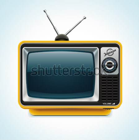 Vector retro tv xxl icoon gedetailleerd icon Stockfoto © tele52