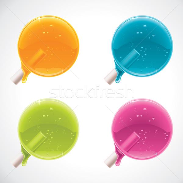 Vector colorful lollipops  Stock photo © tele52