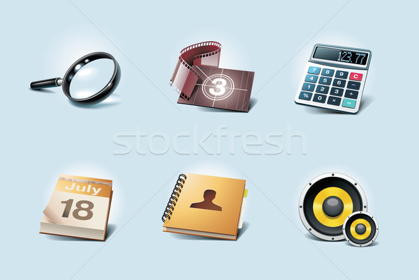 Vector application icons. Part 2 Stock photo © tele52