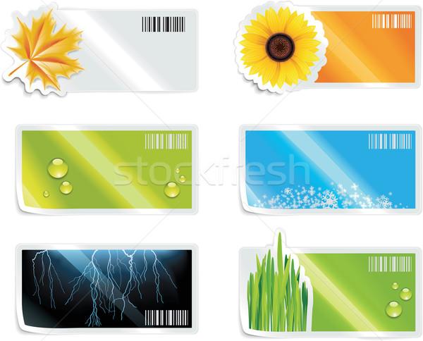 Foto stock: Vector · compras · elementos · establecer · ilustraciones