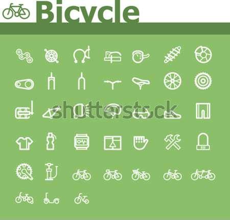 Bicycle icon set Stock photo © tele52