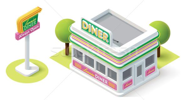 Vector isometric diner Stock photo © tele52