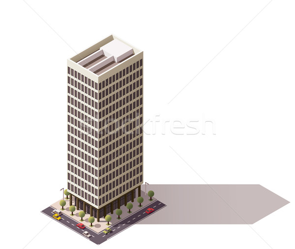 Vector isometric building Stock photo © tele52