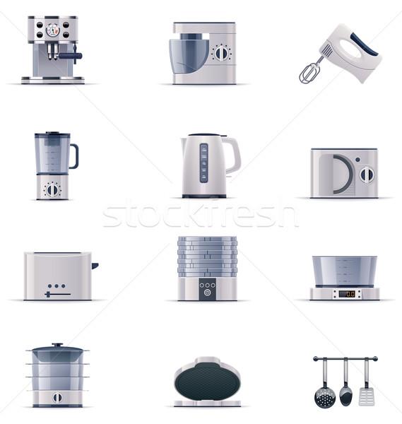 Vector domestic appliances set. Part 2 Stock photo © tele52