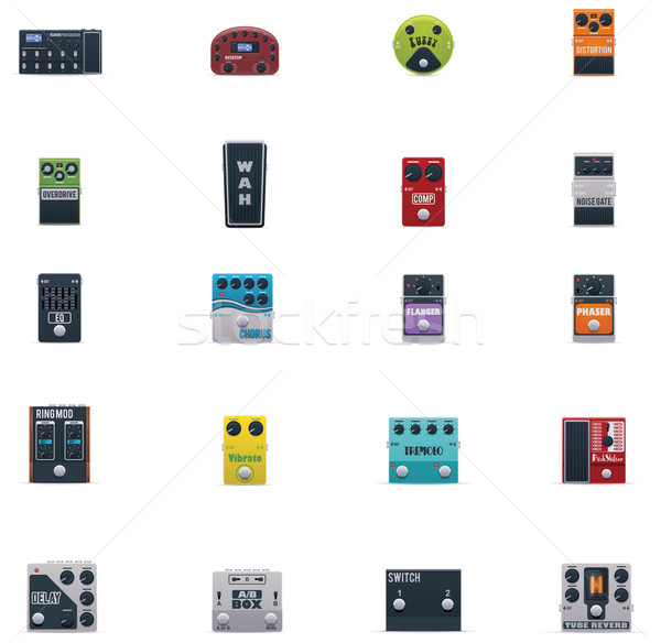 Vector guitar effects icons set Stock photo © tele52