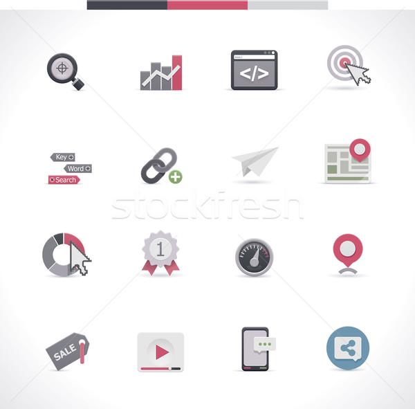 SEO icon set. Part 1 Stock photo © tele52
