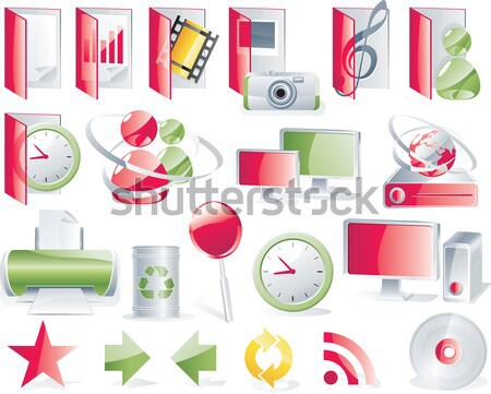 Vector shopping icon set and elements. Part 5 Stock photo © tele52