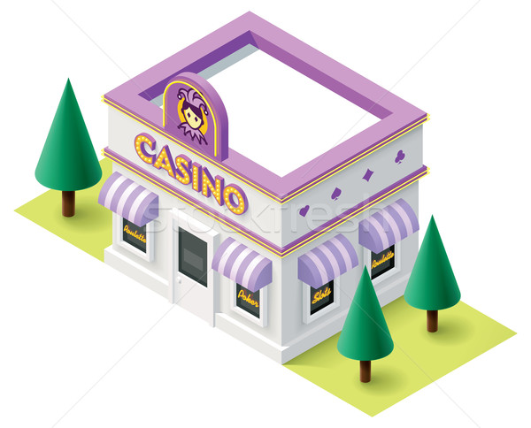 Vector isometric casino Stock photo © tele52
