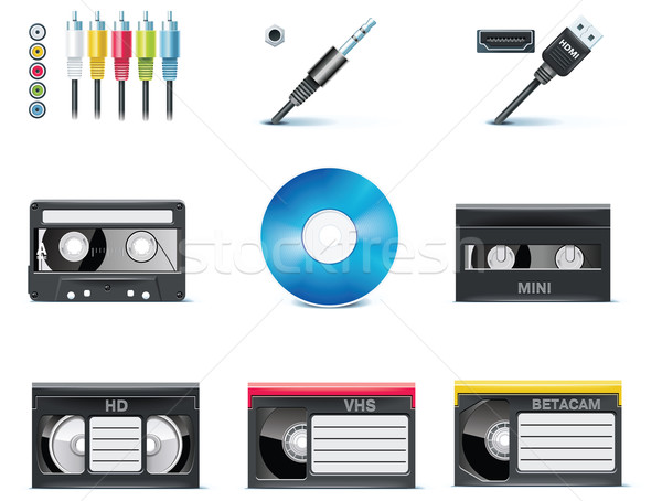 Vector video icons. Part 8 Stock photo © tele52