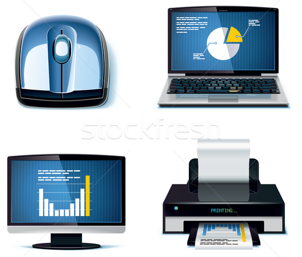 Vector office icon set. Part 3 Stock photo © tele52
