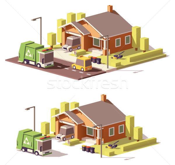 Vector low poly house icon Stock photo © tele52