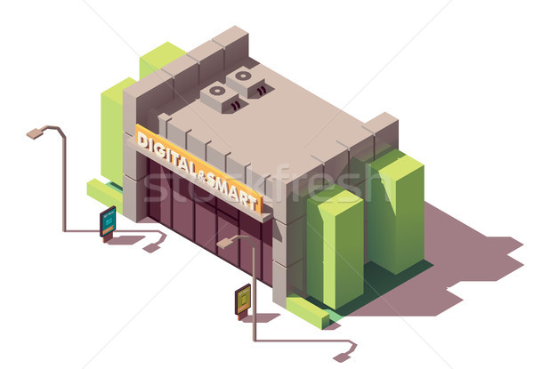 Vector isometric gadgets and computer store Stock photo © tele52