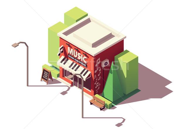 вектора изометрический музыкальный инструмент магазине музыку дома Сток-фото © tele52