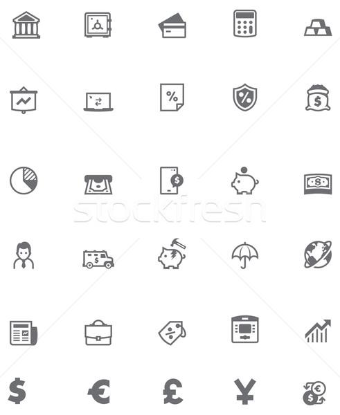 Vector banking icon set Stock photo © tele52