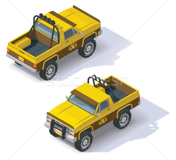 Vector isometric pickup Stock photo © tele52