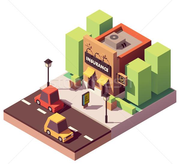 Vecteur isométrique assurance agence immobilier courtier Photo stock © tele52