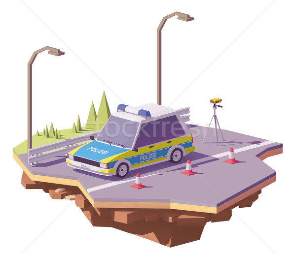 Vector laag politie auto snelheid radar Stockfoto © tele52