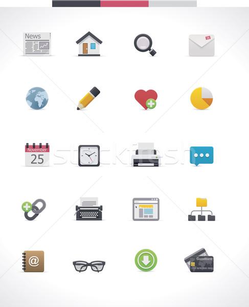 Vector web page icon set Stock photo © tele52