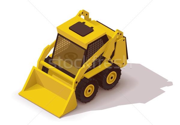 Wektora izometryczny mini ikona żółty budynku Zdjęcia stock © tele52