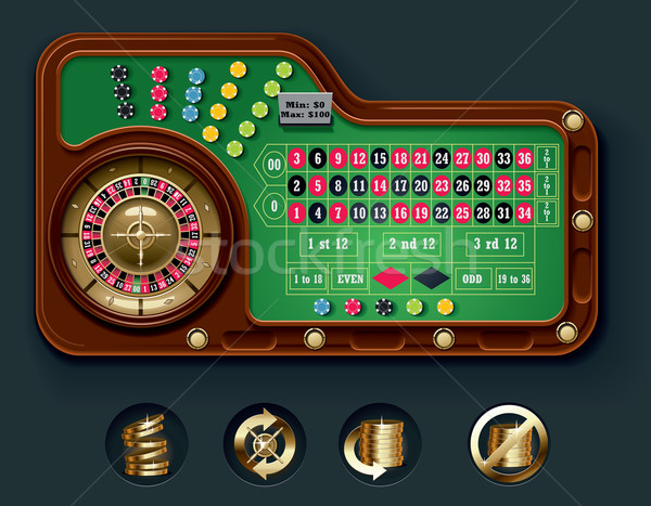 Vector American roulette table layout Stock photo © tele52