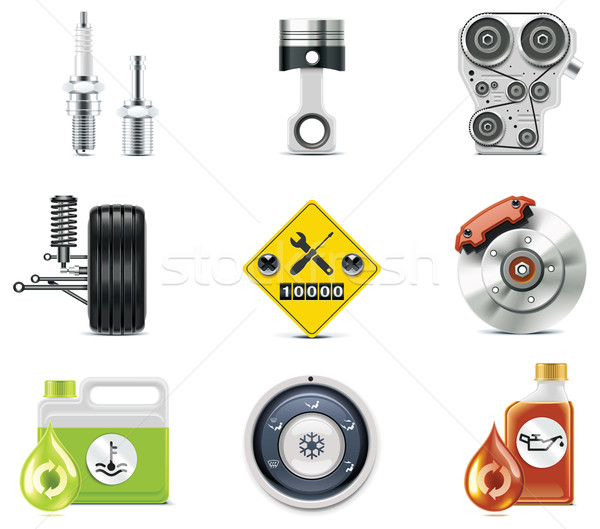 Car service icons. Part 3 Stock photo © tele52