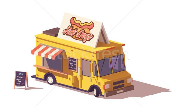 Wektora niski hot dog żywności ciężarówka van Zdjęcia stock © tele52