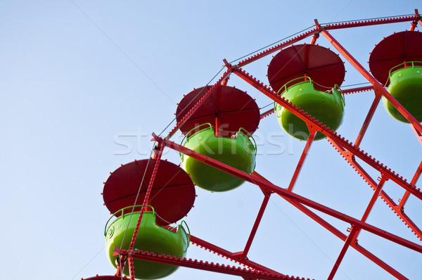 詳細 緑 赤 空 夏 ストックフォト © tepic