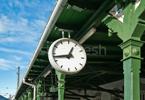 Antique Station Clock Stock photo © tepic