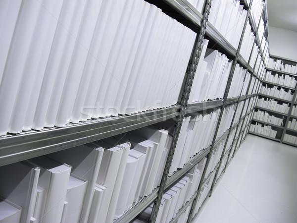 シェルフ 白 図書 抽象的な 背景 教育 ストックフォト © tepic