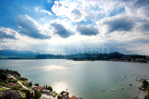 表示 湖 水 自然 光 夏 ストックフォト © tepic