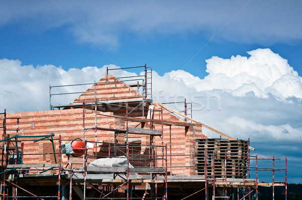 建物 建設 家族 雲 ストックフォト © tepic