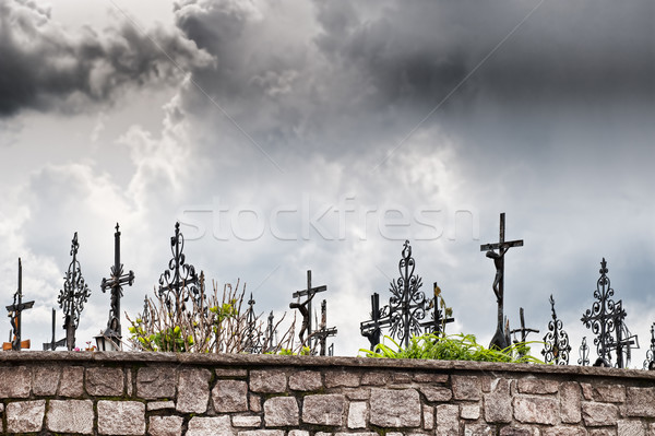 Dark Clouds over Graveyard Stock photo © tepic