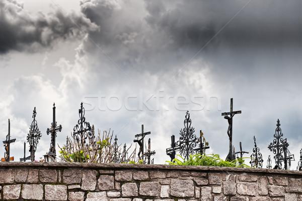 暗い 雲 墓地 空 イエス 聖書 ストックフォト © tepic