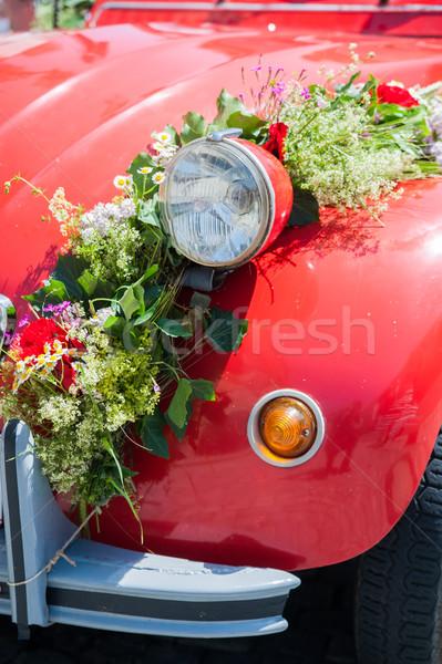 Bruiloft auto Rood steeg Stockfoto © tepic