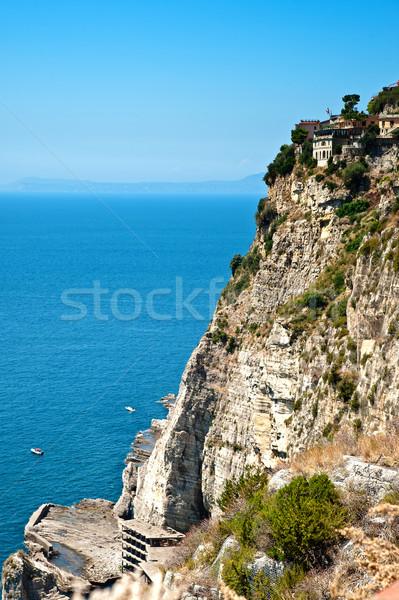 崖 海岸線 イタリア ビーチ 空 水 ストックフォト © tepic