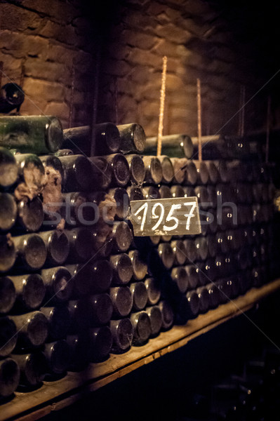 Old and Dusty Wine Bottles Stock photo © tepic