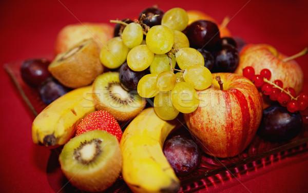 プレート 果物 のような バナナ リンゴ イチゴ ストックフォト © tepic
