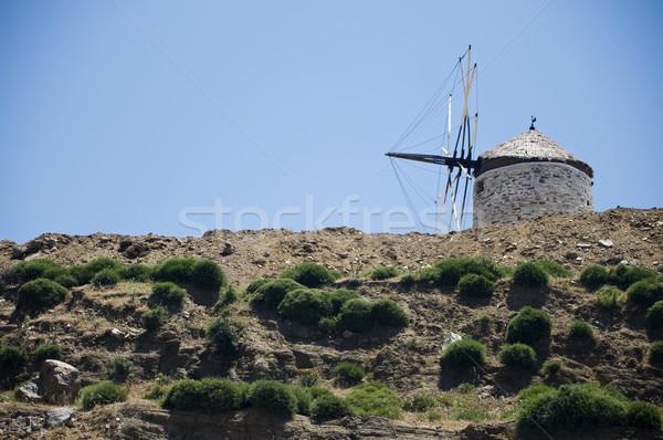 устаревший Windmill небе путешествия острове праздник Сток-фото © tepic