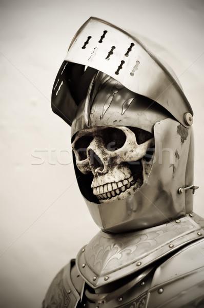 Csontváz páncél öltöny koponya emberi vasaló Stock fotó © tepic