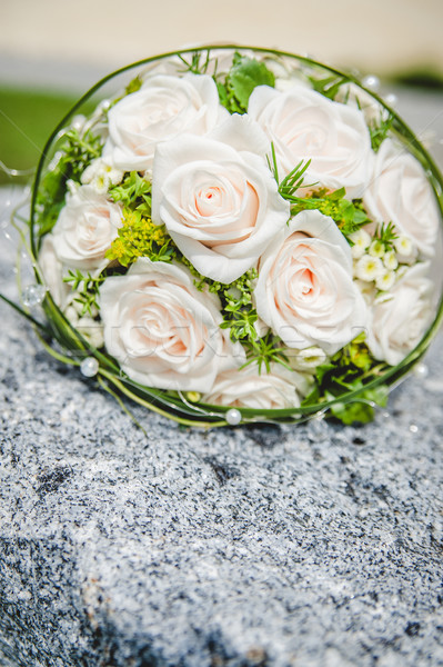 Bridal Bouquet on a Stone Stock photo © tepic