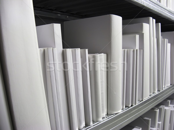 White Books in a Shelf Stock photo © tepic
