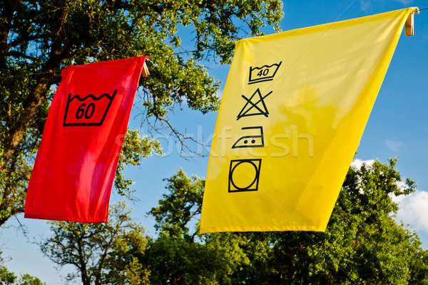 Laundry Care Symbols Stock photo © tepic