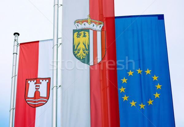 Austrian Flags Stock photo © tepic