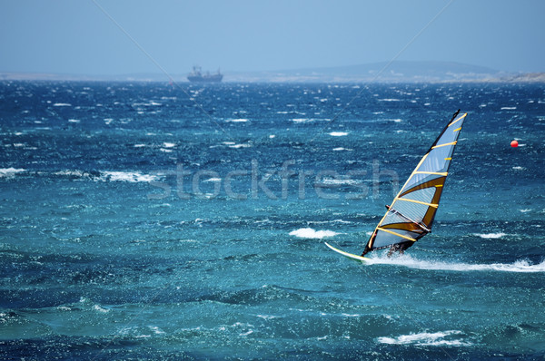 Windsurfing in the Open Sea Stock photo © tepic