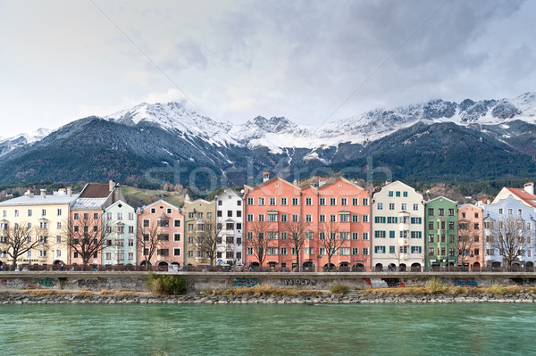 Row of Houses in Innsbruck Stock photo © tepic