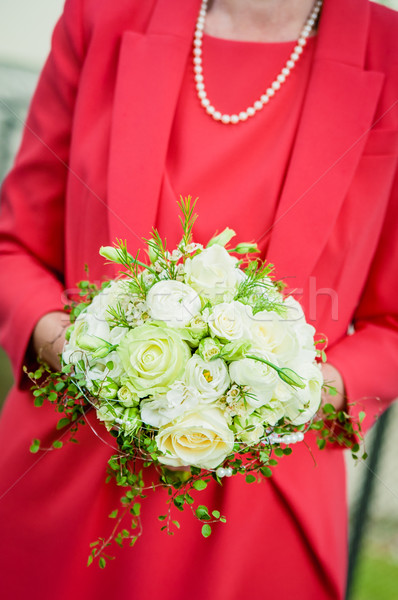 Bride Holding Wedding Bouquet Stock photo © tepic