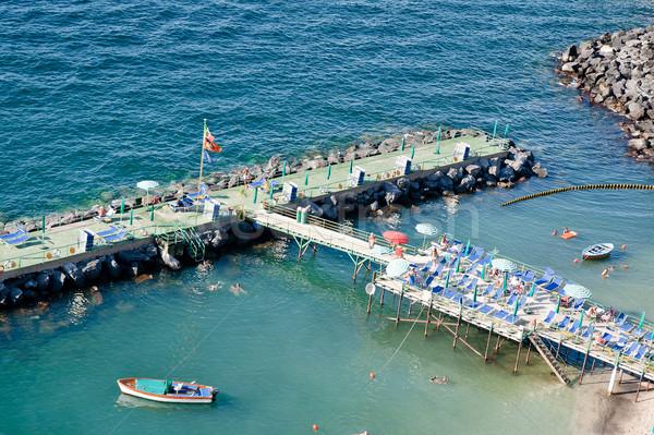 日光浴 桟橋 ナポリ イタリア 水 ストックフォト © tepic