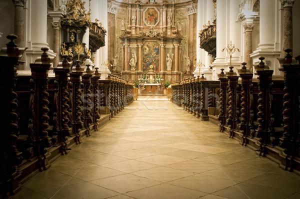 Widoku ołtarz barokowy budynku świetle Jezusa Zdjęcia stock © tepic