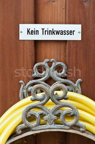 庭園 にログイン 飲料水 水 木材 ストックフォト © tepic